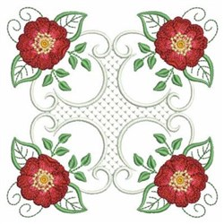 Quilt Roses embroidery design