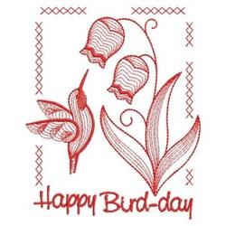 Happy Bird-day embroidery design