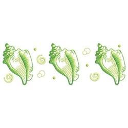 Conch Border embroidery design