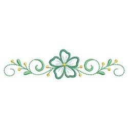 Swirl Floral embroidery design