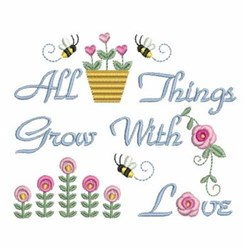 Things Grow embroidery design