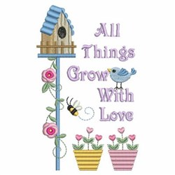 With Love Birdhouse embroidery design
