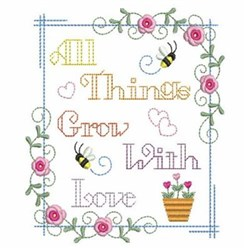 With Love Rectangle embroidery design