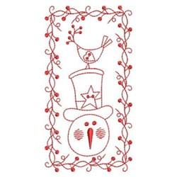 RW Snowman embroidery design