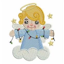 Xmas Light Angel embroidery design