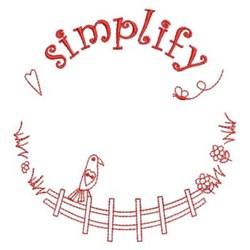 Redwork Simplify embroidery design