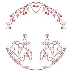 Redwork Sheep embroidery design