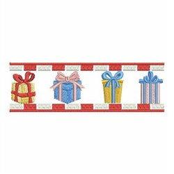 Gift Border embroidery design