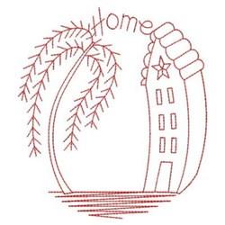 Redwork Home embroidery design