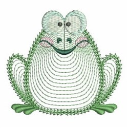 Rippled Frog embroidery design