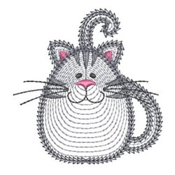 Rippled Cat embroidery design