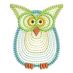 Rippled Owls embroidery design
