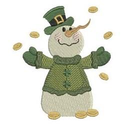 Irish Snowman embroidery design