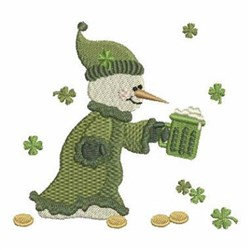 Green Beer Snowman embroidery design