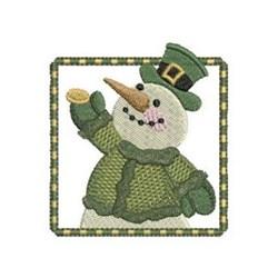 St Patrick Snowman embroidery design