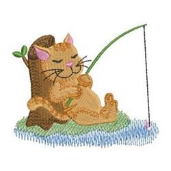 Fishing Kitties embroidery design