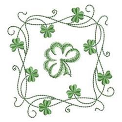 Shamrock Square embroidery design
