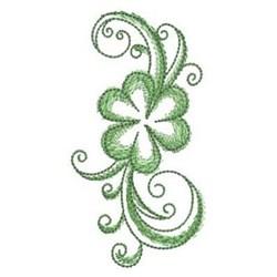 Swirl Shamrock embroidery design