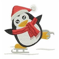 Ice Skate Penguin embroidery design