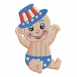 Patriot Baby embroidery design