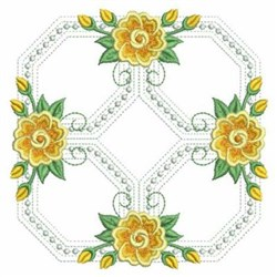 Yellow Rose Decoration embroidery design