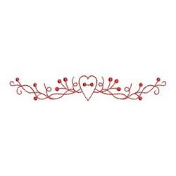 Redwork Heart Garland embroidery design