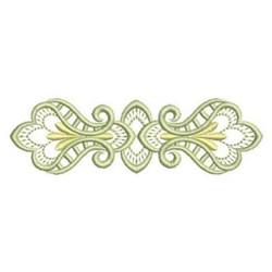Satin Border Blossoms embroidery design