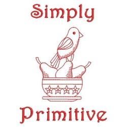 Redwork Primitive embroidery design
