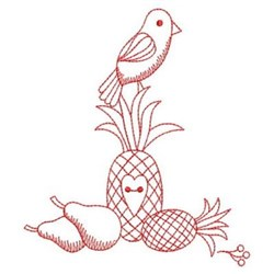 Redwork Primitive Crow embroidery design