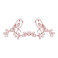 Redwork Crows embroidery design
