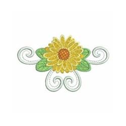 Heirloom Daisy embroidery design