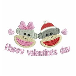 Valentine Sock Monkeys embroidery design
