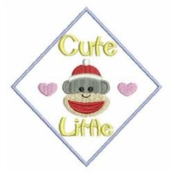 Valentine Sock Monkey embroidery design