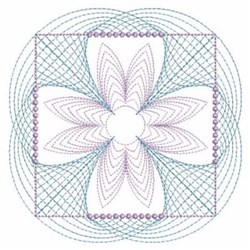 Rippled Square Quilt Block embroidery design