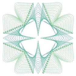 Rippled Clover embroidery design