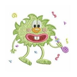 Birthday Noisemaker Monster embroidery design