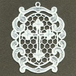 FSL Cross Ornament embroidery design