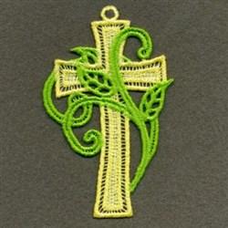 FSL Leaf Cross embroidery design