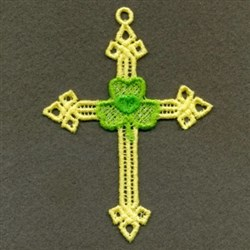 FSL Shamrock Cross embroidery design