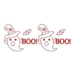 Redwork Halloween Ghosts embroidery design