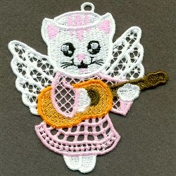 FSL Guitar Angel Cat embroidery design