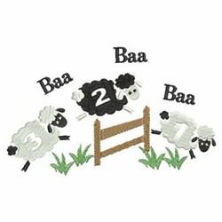 Baa Baa Black Sheep embroidery design