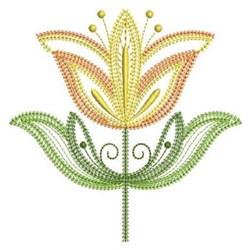 Jacobean Blossom embroidery design