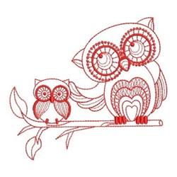 Redwork Owls embroidery design