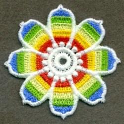 FSL Rainbow Bloom embroidery design