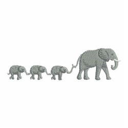 Mother Elephant Border embroidery design