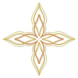 Fancy Quilt Cross Motif embroidery design