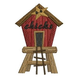 The Chick's House embroidery design