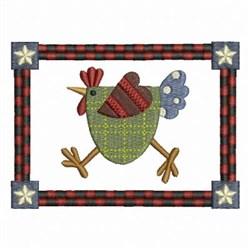 Patchwork Chicken embroidery design