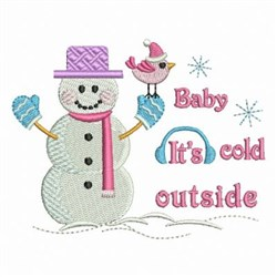 It's Cold Outside Snowman embroidery design